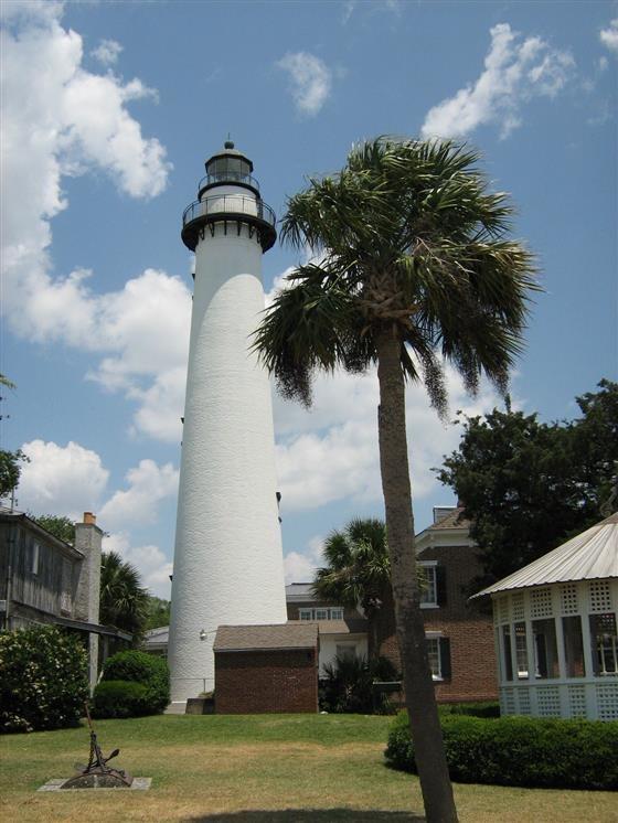 St Simons Lighthouse Saint Simons Island Georgia Real